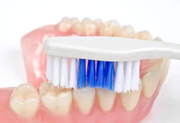 Brushing Denture
